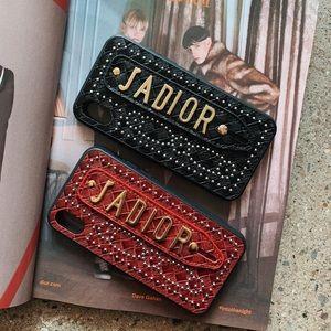 Accessories - ♥️JaDior vegan leather studded designer phone case